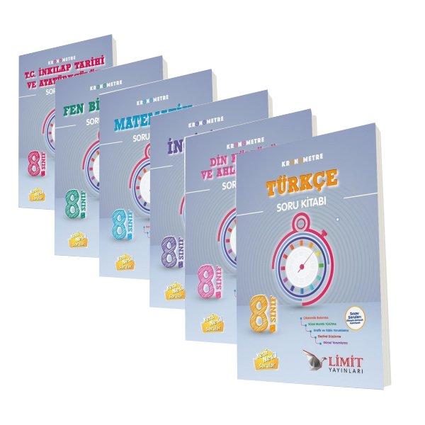 Limit Yayınları 8. Sınıf LGS Hazırlık Kronometre Soru Bankaları Seti 6 Kitap