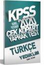 2020 KPSS Genel Yetenek Türkçe Yaprak Test Yediiklim Yayınları