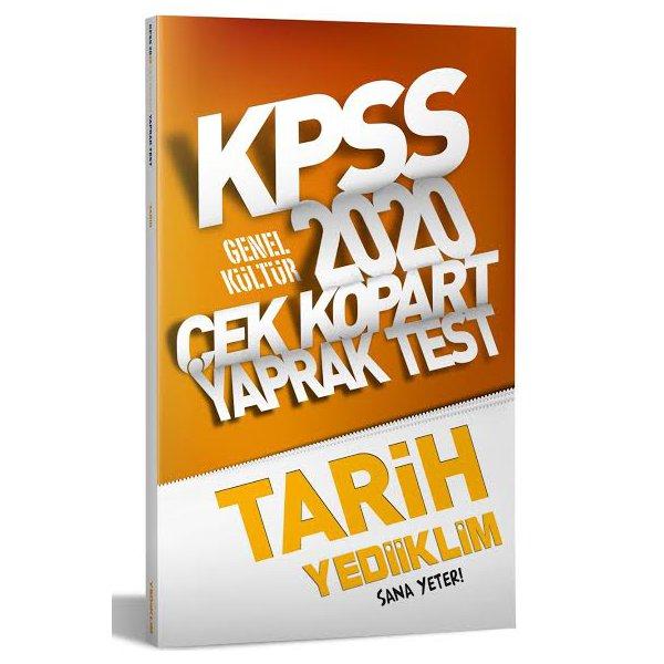 2020 KPSS Genel Kültür Tarih Yaprak Test Yediiklim Yayınları