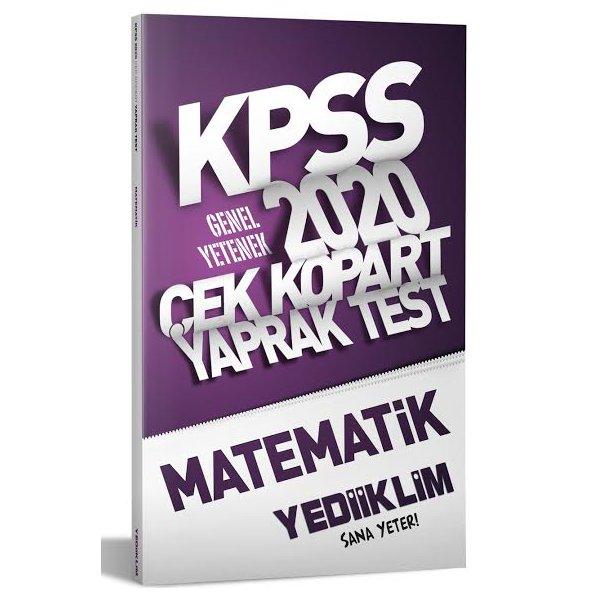 2020 KPSS Genel Yetenek Matematik Yaprak Test Yediiklim Yayınları