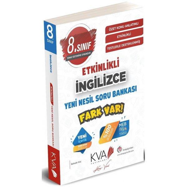8. Sınıf LGS İngilizce Yeni Nesil Etkinlikli Fark Var Soru Bankası KVA Yayınları
