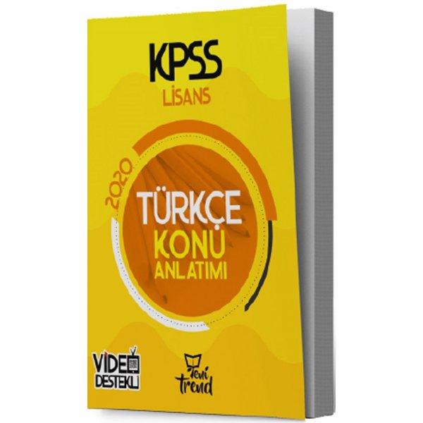 2020 KPSS Türkçe Konu Anlatımlı Yeni Trend Yayınları