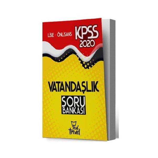 2020 KPSS Lise Önlisans Vatandaşlık Soru Bankası Yeni Trend Yayınları