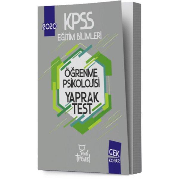 2020 KPSS Eğitim Bilimleri Öğrenme Psikolojisi Yaprak Test Yeni Trend Yayınları