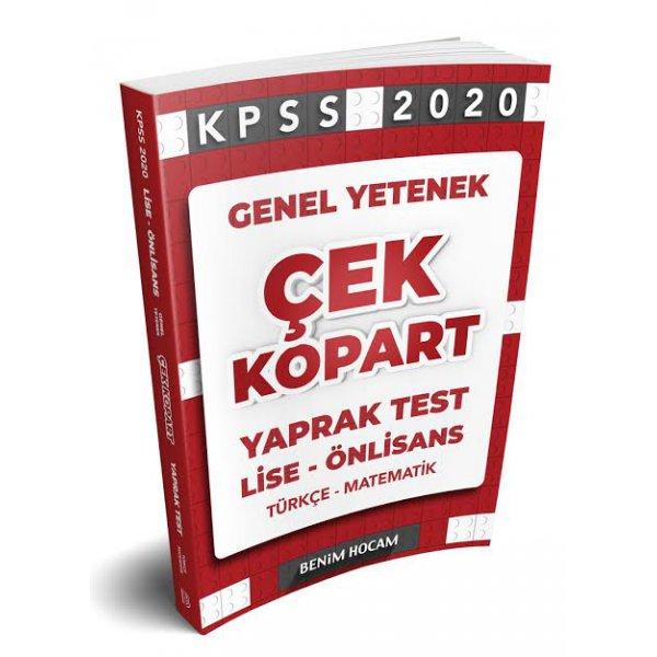 2020 Lise-Önlisans KPSS Genel Yetenek Çek Kopart Yaprak Test Benim Hocam Yayınları