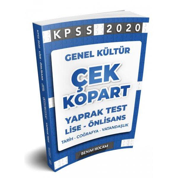 2020 Lise-Önlisans KPSS Genel Kültür Çek Kopart Yaprak Test Benim Hocam Yayınları