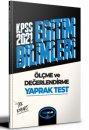 2021 KPSS Eğitim Bilimleri Ölçme ve Değerlendirme Çek Kopar Yaprak Test Yediiklim Yayınları