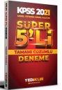 2021 KPSS Genel Yetenek Genel Kültür Tamamı Çözümlü Süper 5 li Deneme Yediiklim Yayınları