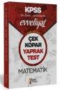 2020 Evveliyat KPSS Genel Yetenek Ortaöğretim Ön Lisans Matematik Çek Kopar Yaprak Test İsem Yayınları