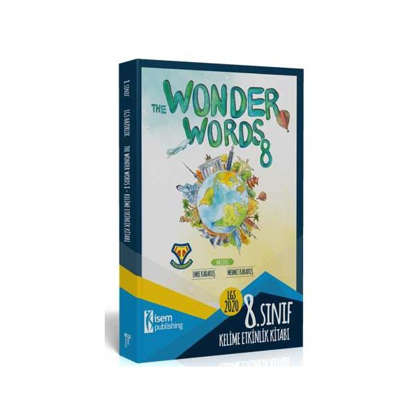 8. Sınıf LGS İngilizce Kelime Etkinlik Kitabı - The Wonder Words 8 İsem Yayınları