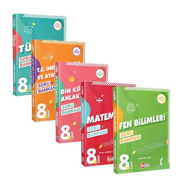 Kida 8. Sınıf LGS Hazırlık ve Okula Yardımcı Kazandıran Soru Bankaları Seti 5 Kitap