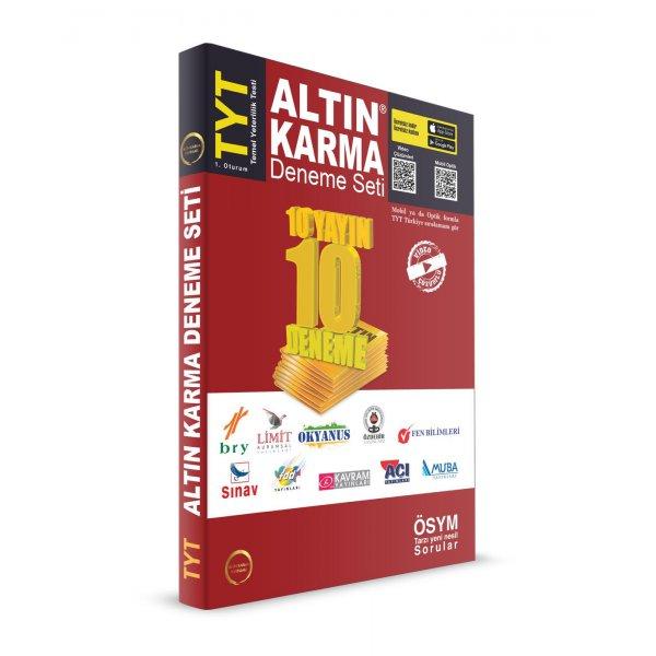 TYT Deneme Seti 10 Farklı Yayın 10 Farklı Deneme Altın Karma Yayınları