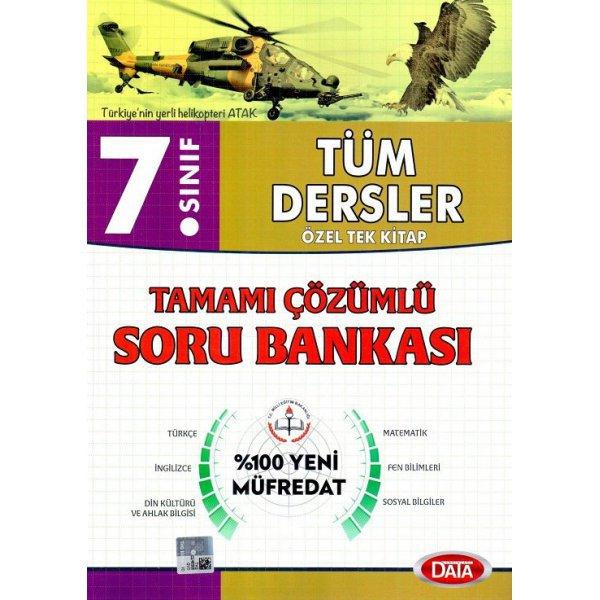 7. Sınıf Tüm Dersler Tamamı Çözümlü Soru Bankası Data Yayınları