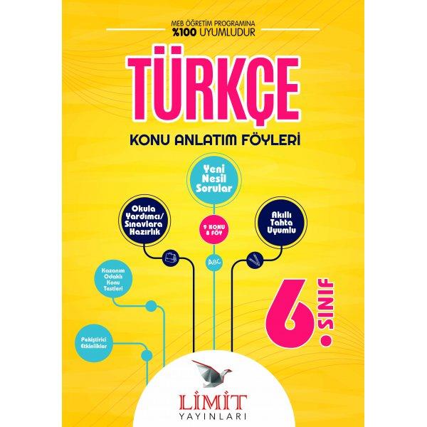 6. Sınıf Türkçe Konu Bitirme Föyü Limit Yayınları