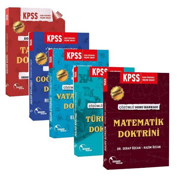2020 KPSS Genel Yetenek Genel Kültür Modüler Çözümlü Soru Seti Doktrin Yayınları 5 Kitap