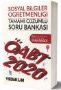 2020 ÖABT Sosyal Bilgiler Öğretmenliği Tamamı Çözümlü Soru Bankası Yediiklim Yayınları
