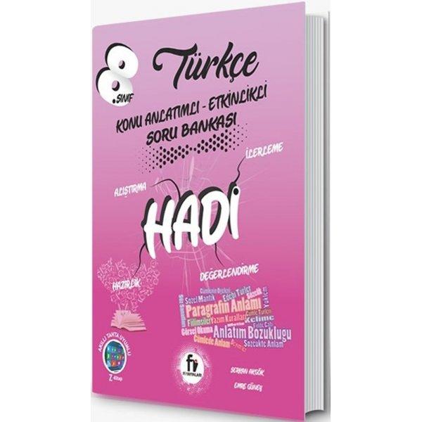 8. Sınıf LGS Türkçe Konu Anlatımlı Etkinlikli Hadi Soru Bankası Fi Yayınları