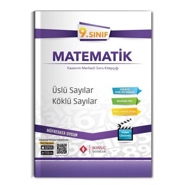 9. Sınıf Matematik Üslü Sayılar Köklü Sayılar Kazanım Merkezli Soru Kitapçığı Video Çözümlü Sonuç Yayınları
