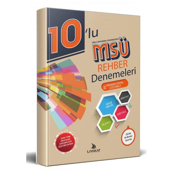 10'lu MSÜ Rehber Denemeleri 2020 Alımlarına Özel Hazırlık Tamamı Dijital Çözümlü Liyakat Yayınları