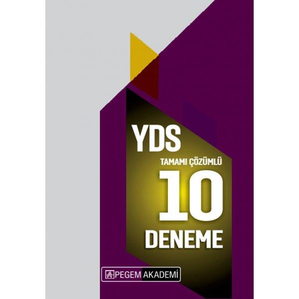 2020 YDS İngilizce 10 Deneme Çözümlü Pegem Akademi Yayınları