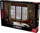 Pencere Kedileri  Window Cats 1000 Parça Puzzle - Yapboz
