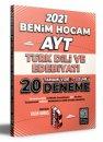 2021 AYT Türk Dili ve Edebiyatı Tamamı Video Çözümlü 20 Deneme Sınavı Benim Hocam Yayınları