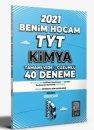 2021 TYT Kimya Tamamı Video Çözümlü 40 Deneme Sınavı Benim Hocam Yayınları