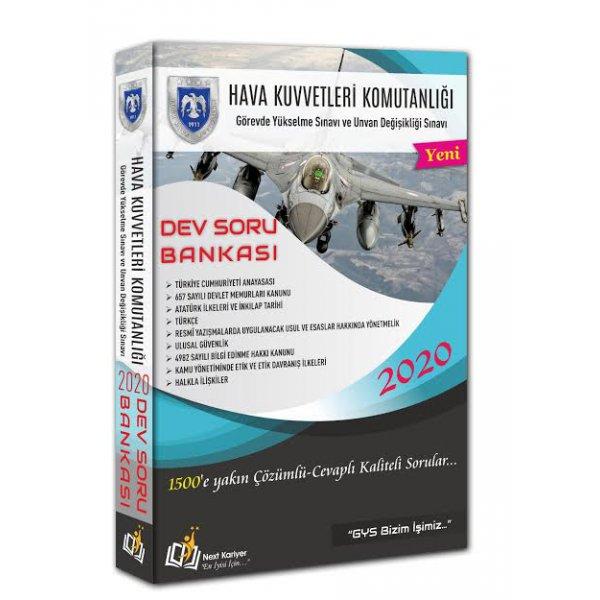 2020 GYS UDS Hava Kuvvetleri Komutanlığı Görevde Yükselme ve Unvan Değişikliği Sınavı Dev Soru Bankası Next Kariyer Yayınları