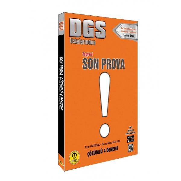 2020 DGS Öncesi Son Prova Yayınları 4 Çözümlü Deneme Tasarı Yayınları