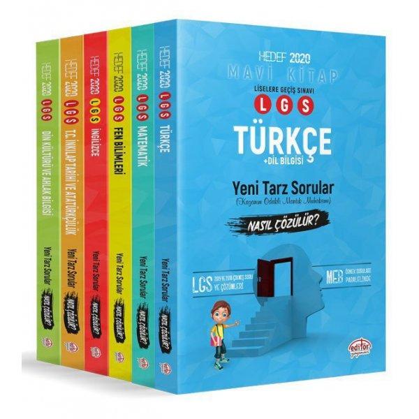 Editör 2020 LGS Tüm Dersler Mantık Muhakeme Soruları Nasıl Çözülür 6 Kitap Set Editör Yayınları