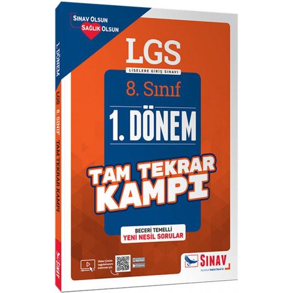 8. Sınıf LGS 1. Dönem Çözümlü Tam Tekrar Kampı Sınav Yayınları