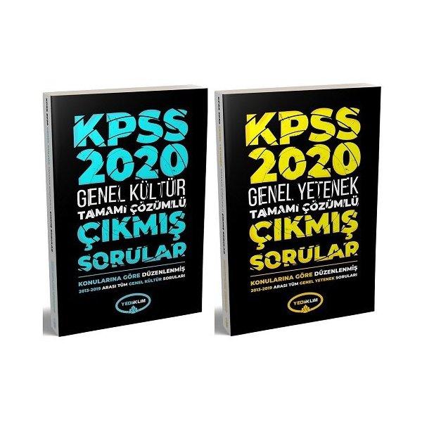 2020 KPSS Genel Kültür Genel Yetenek Çıkmış Sorular 2 li Set Konularına Göre Çözümlü 2013-2019 Yediiklim Yayınları
