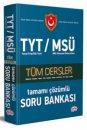 TYT MSÜ Tüm Dersler Çözümlü Soru Bankası Editör Yayınları
