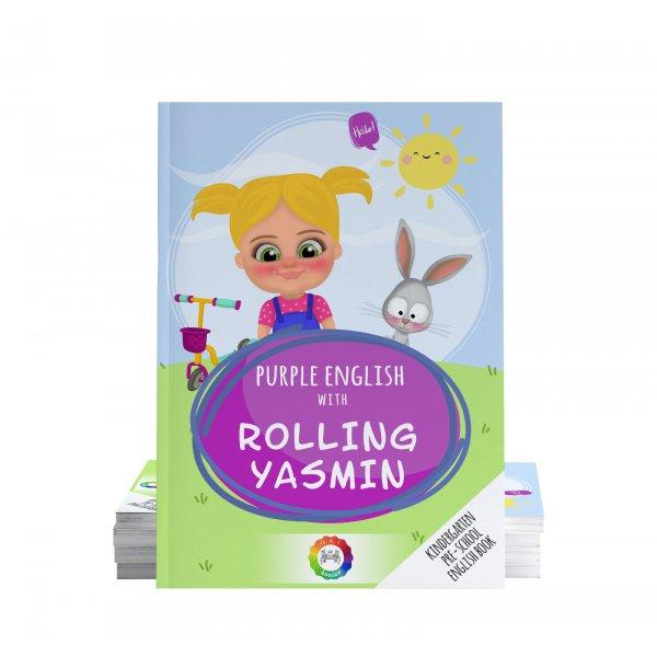 Purple English with Rolling Yasmin Oxford as Academy Uluslararası Anaokulu ve Okul Öncesi Dil Eğitim Kitabı