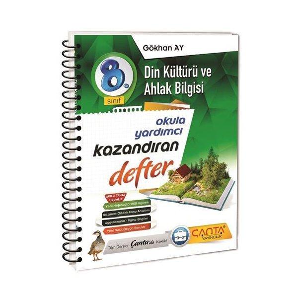 Çanta Yayınları 8. Sınıf Din Kültürü ve Ahlak Bilgisi Kazandıran Defter
