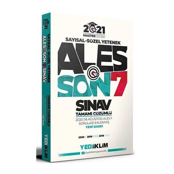 Yediiklim Yayınları 2021 ALES Son 7 Sınav Tamamı Çözümlü Çıkmış Sorular Master Serisi