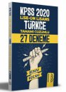 Benim Hocam 2021 KPSS Lise Ön Lisans Türkçe Tamamı Çözümlü 27 Deneme