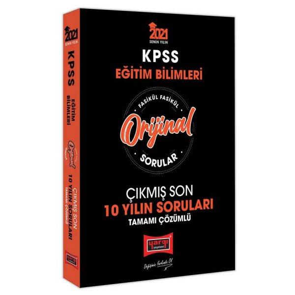 2021 KPSS Eğitim Bilimleri Orijinal Sorular Fasikül Tamamı Çözümlü Çıkmış Son 10 Yılın Soruları Yargı Yayınları