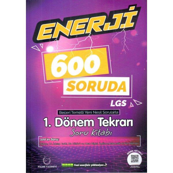 8.Sınıf Enerji 600 Soruda 1.Dönem Tekrarı Palme Yayınevi