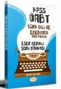 2021 KPSS ÖABT Türk Dili ve Edebiyatı Öğretmenliği Eser İçerikli Soru Bankası Yediiklim Yayınları