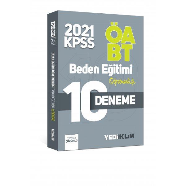 2021 ÖABT Beden Eğitimi Öğretmenliği Tamamı Çözümlü 10 Deneme Yediiklim Yayınları