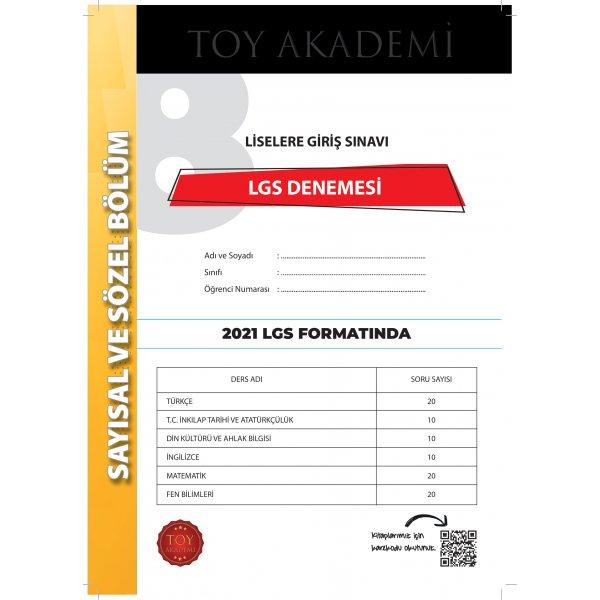 TOY Akademi 1 Adet LGS Deneme Sınavı 2021 LGS
