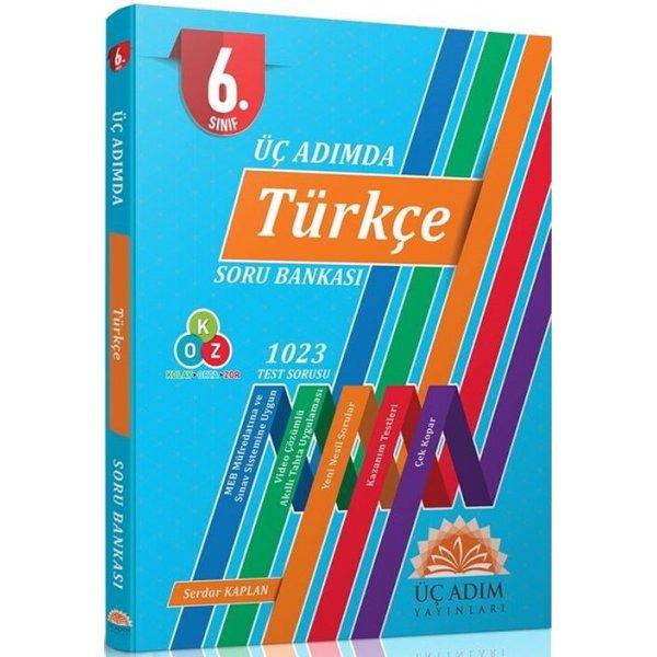Üç Adım Yayınları 6. Sınıf Türkçe Üç Adımda Soru Bankası