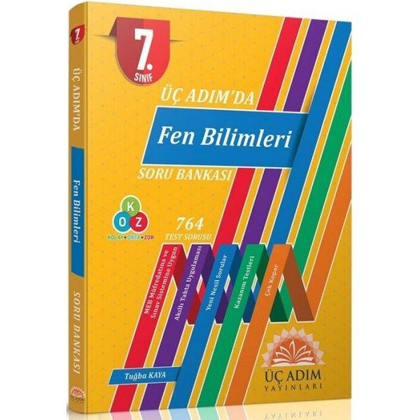 Üç Adım Yayınları 7. Sınıf Fen Bilimleri Üç Adımda Soru Bankası