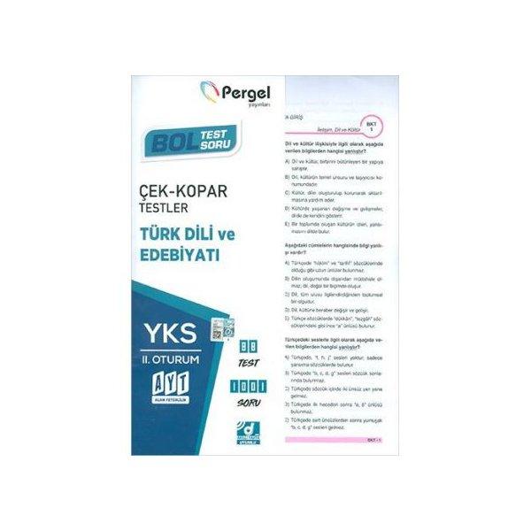 AYT Türk Dili ve Edebiyatı Çek Kopar Yaprak Testler Pergel Yayınları