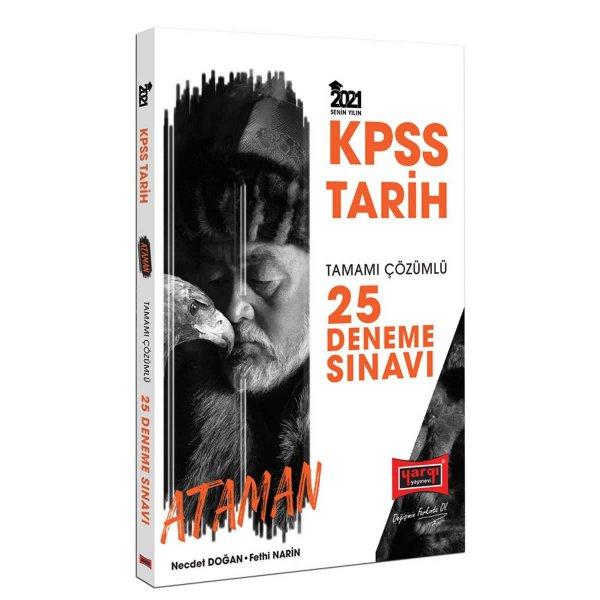 2021 KPSS Ataman Tarih Tamamı Çözümlü 25 Deneme Sınavı Yargı Yayınları
