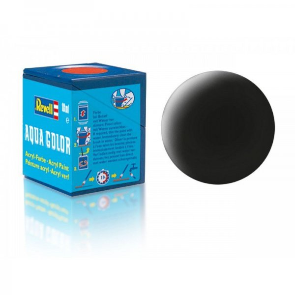 Revell 08 - Aqua Color Black - Mat Boya - 18 ml