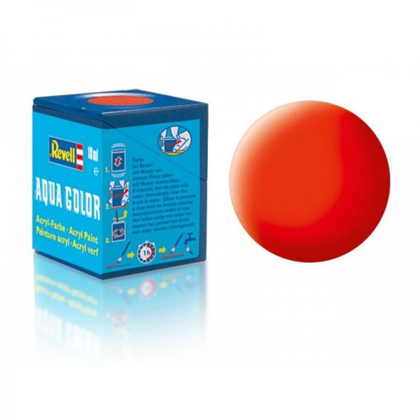 Revell 25 -Aqua Color Luminous Orange - Mat Boya- 18 ml