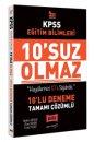 2021 KPSS Eğitim Bilimleri 10'suz Olmaz Tamamı Çözümlü 10 Deneme Yargı Yayınları