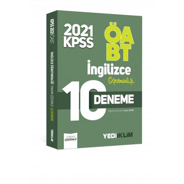 2021 ÖABT İngilizce Öğretmenliği Tamamı Çözümlü 10 Deneme Yediiklim Yayınları